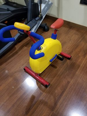 Kids Exercise Bike Cardio Equipment Child Safe Fitness Low Impact Manual Ride for Sale in Clinton, WA