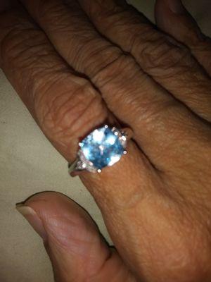 New Sky Blue Topaz Ladies Ring Size 7 for Sale in Detroit, MI