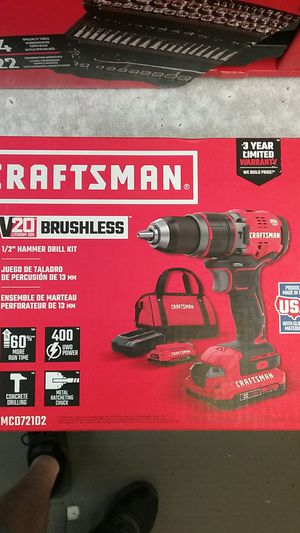 """Craftsman 1/2"""" hammer drill set for Sale in Tampa, FL"""