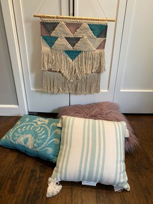 Pillows & Macrame Wall Hanging for Sale in Seal Beach, CA