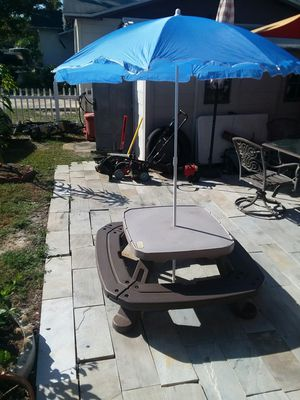 Kids table with umbrella for Sale in Port Richey, FL
