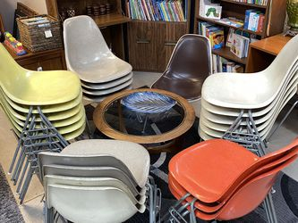 Vintage Eames Fiberglass Chairs for Sale in Milwaukie,  OR