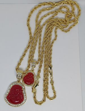 Couple buddha rope chain 14k stamped PLATED GOLD BRAZILIAN for Sale in Bakersfield, CA
