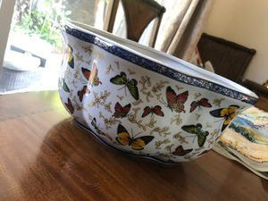 Vintage decorative bowl with butterflies for Sale in Pleasanton, CA