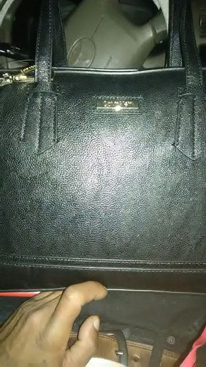 Calvin Klein all black leather purse for Sale in Tacoma, WA