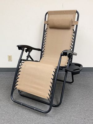 (NEW) $35 each Adjustable Zero Gravity Lounge Chair Recliner for Patio Pool w/ Cup Holder (2 Colors) for Sale in Whittier, CA