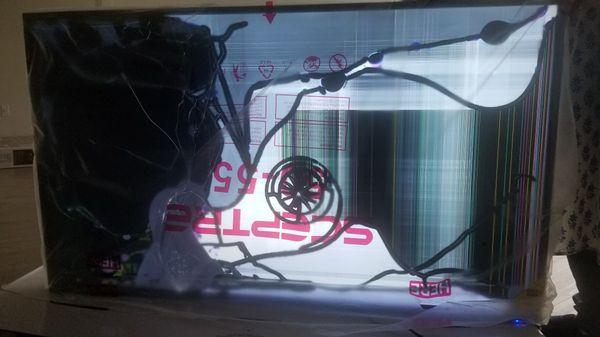 Sceptre 55 inch TV ,cracked screen