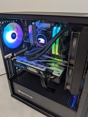 Intel Core i7 10700K 16GB RGB 3200MHz 500GB + 1TB RX 570 8GB aRGB case gaming pc for Sale in La Habra Heights, CA