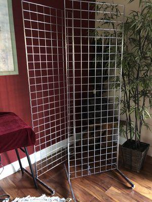 Retail Metal Grid Display Racks with Hangers for Sale in Los Altos, CA