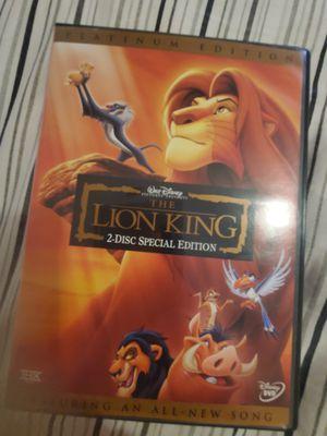Disney The Lion King Platinum Edition DVD for Sale in Palm Shores, FL