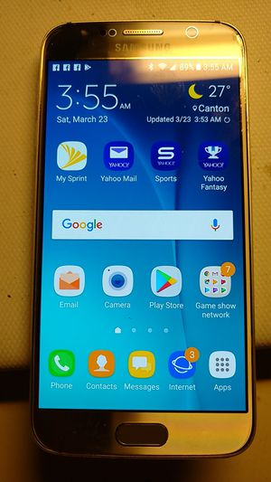 Samsung Galaxy S6 edge works used it on wifi no problems ..Sprint phone for Sale in Canton, OH