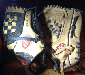 Two used Rawlings baseball gloves in good condition asking 60.00 or best offer for Sale in Los Angeles, CA