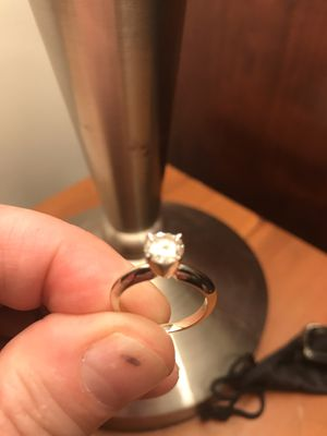 Ladies 14k White Gold Diamond Engagement Ring Tiffany Setting Simple Elegant for Sale in Trumbull, CT