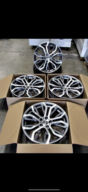 """BMW X5 20"""" new silver machine rims tires set for Sale in Hayward, CA"""
