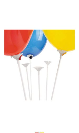 Fun Express Premium Quality White Balloon Sticks with White Cups (Package of 144) for Sale in Mesquite, TX