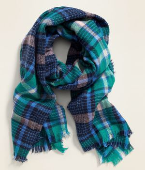 Blue Plaid Oversized Flannel Scarf for Sale in Indian Trail, NC