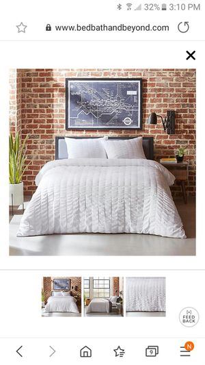 City scene king duvet cover set white for Sale in Milton, FL