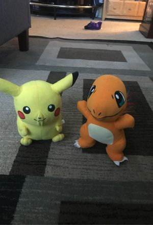 Pickachu and Charizard plushies for Sale in San Jose, CA