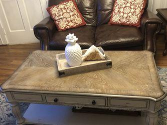 Living Room Sofa Set + Coffee Table for Sale in Burlington,  MA