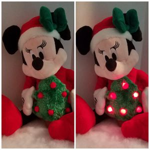 RARE Disney Minnie Mouse Lighted Christmas Tree Musical Animated Stuffed Plush for Sale in Dale, TX