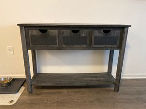 Table shelf with drawers for Sale in Charlotte, NC
