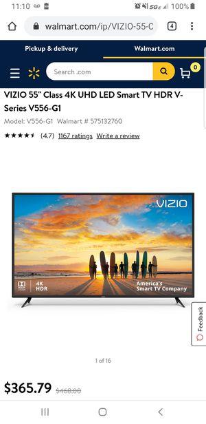 55 inch Vizio smart tv with mount for Sale in Everett, WA