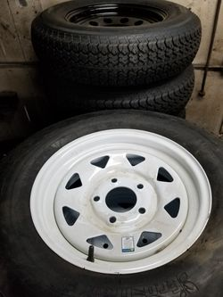 5 lug trailer wheel tire assembly st205/75r15 for Sale in Irwindale,  CA
