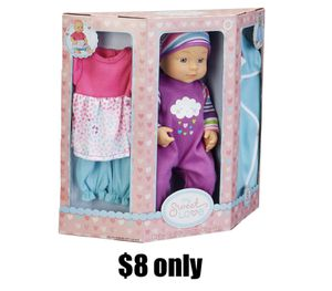 """My Sweet Love 12.5"""" Baby Doll and Outfits Play Set, Rainbow, 6 Pieces for Sale in Placentia, CA"""