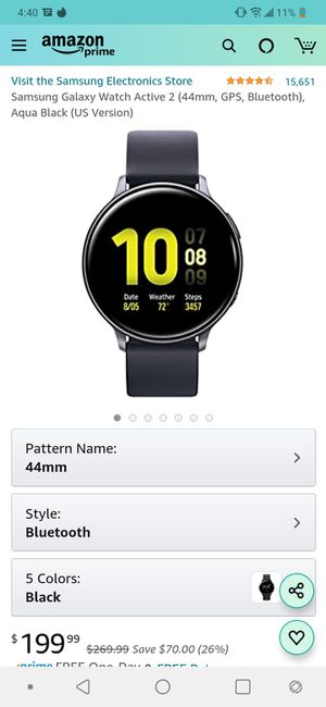 Samsung galaxy active watch 2 for Sale in Las Vegas, NV