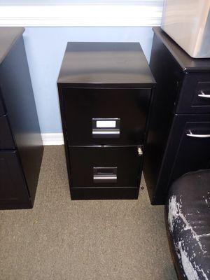 2 drawer file cabinet black locking for Sale in Apopka, FL