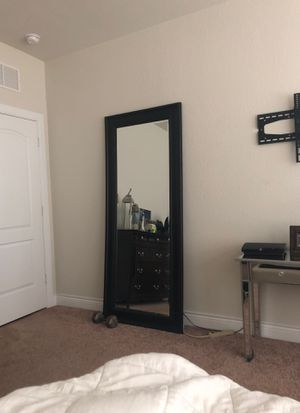 Tall leaning black mirror for Sale in San Antonio, TX
