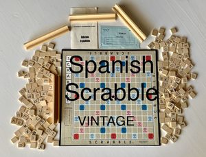 🍄 Vintage 1950s Spanish Scrabble Game. Complete. Many extra tiles. Game. Play. for Sale in Avondale, AZ