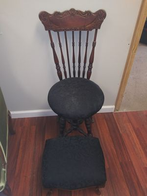 Antique wood chair with ottoman for Sale in Casselberry, FL