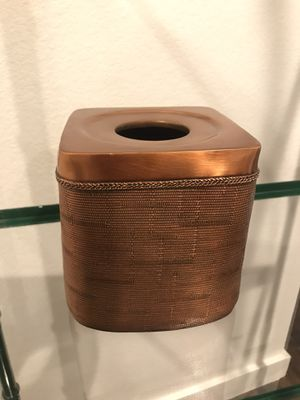 Copper Toned Square Tissue Box Holder for Sale in Midland, TX