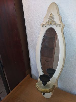 Wall mirror and candle holder for Sale in Miami, FL