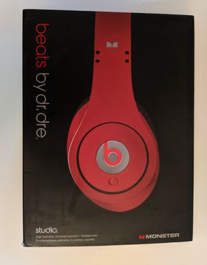 Monster Beats by Dr Dre Studio WIRED Over-the-Ear Headphone Red *BARELY USED* for Sale in Spencerport, NY
