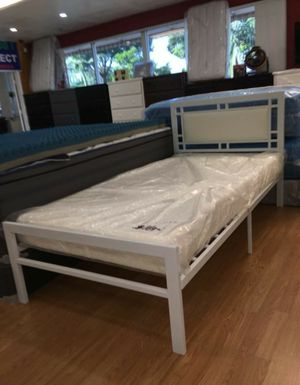 Brand new bed frame with mattress twin size for Sale in Orange, CA