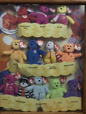 Authentic 25 Years of Happiness McDonald's TY Beanie Babies Collection for Sale in Douglasville, GA