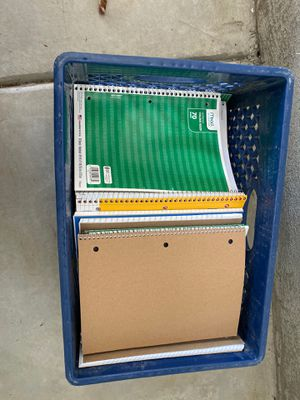 Crate filled with notebooks for Sale in National City, CA
