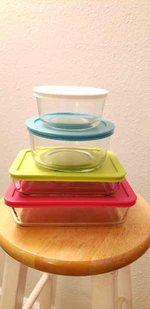 Pyrex Glass Storage Set - Tupperware for Sale in Norcross, GA