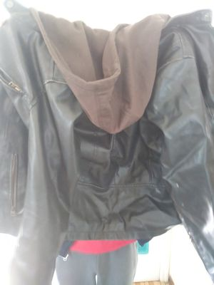 Levis black leather coat for Sale in Columbus, OH
