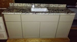 Bathroom Vanity 67 Inch / High Grade Granite / Slow Close / Solid Plywood 😷👍 for Sale in Safety Harbor, FL