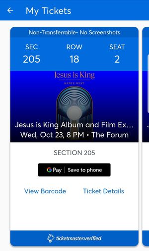 Kanye West Jesus is King and Film Experience 4 Tickets for Sale in El Mirage, CA