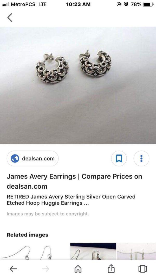 James Avery Retired Hoop Earrings For Sale In San Antonio Tx Offerup