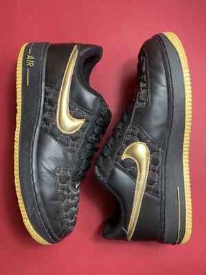 Nike Air Force 1 Black / Metallic Gold for Sale in Boston, MA