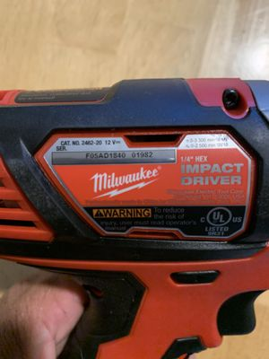 Milwaukee m12 1/4 hex impact driver for Sale in Garden Grove, CA