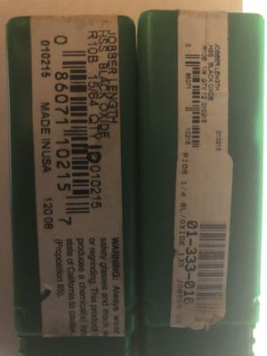 Precision Jobber Length Black Oxide Drill Bits / Packs of 12 Bits (New) for Sale in Greer, SC