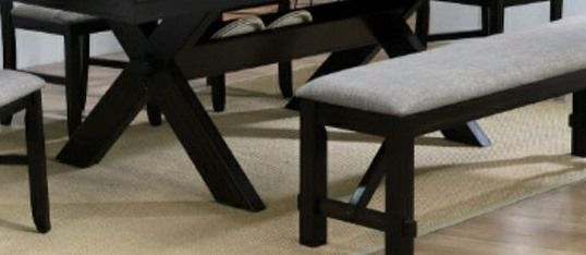 CLOSEOUTS LIQUIDATIONS SALE BRAND NEW 6PC DINING TABLE SET INCLUDES TABLE 1 BENCH AND 4 CHAIRS ALL NEW FURNITURE CM2335 for Sale in Ontario,  CA