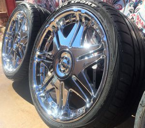 "DVINCI Blade Chrome Wheels Rims 20"" - 245/35/R20 for Sale in Las Vegas, NV"
