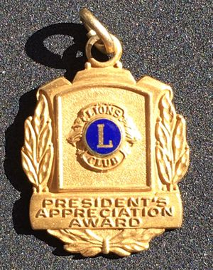 Historic 10k Gold Filled Yellow Gold Lions Club President Pendant for Sale in San Diego, CA